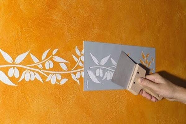 Самостоятельно нарисованные бордюры при помощи шаблонов и трафаретов