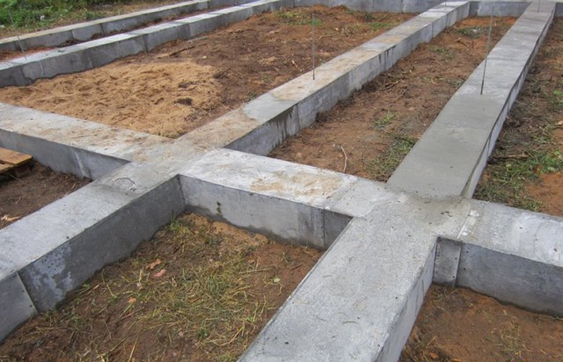 Стандартный фундамент для дома из бруса LogECO