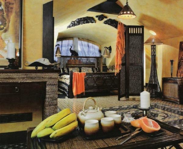 Интерьер комнаты в африканском стиле