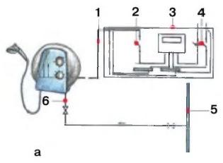 Схема подключения безнапорного проточного водонагревателя