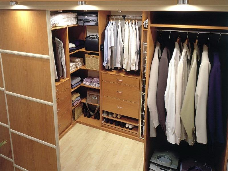 Встроенные гардеробные комнаты фото