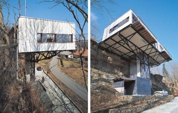 Дом на склоне - обрыве