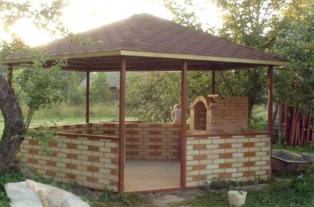 Идеи оформления зоны отдыха и открытой летней кухни и беседки с печью барбекю