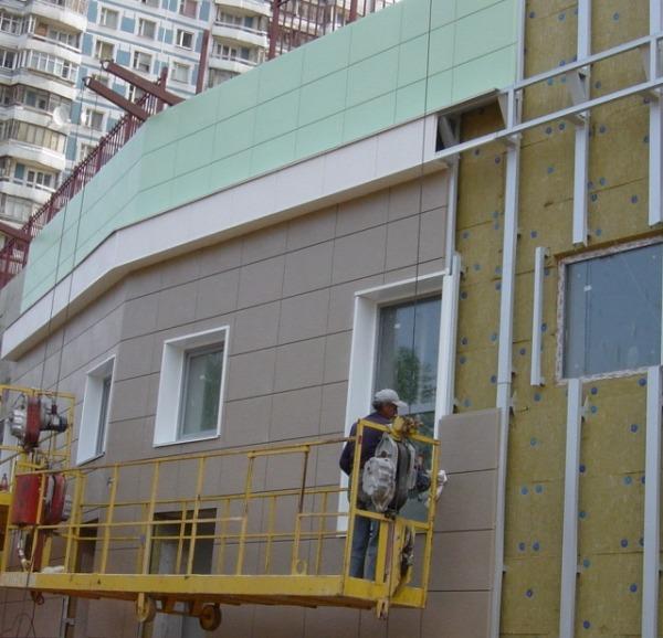 Монтаж вентилируемого фасада