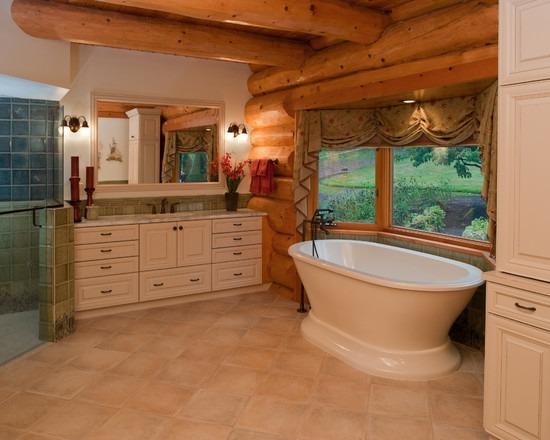 Отделка ванной комнаты в срубе