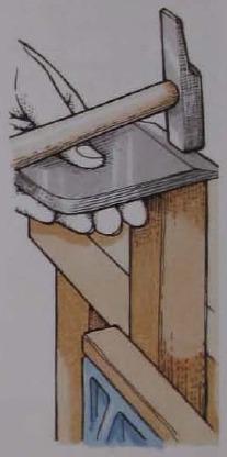 Обработка тыльной стороны ножа с поднутрением