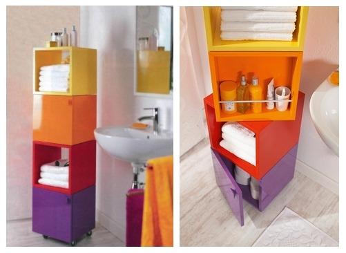 Оригинальный поворотный шкафчик для ванной комнаты