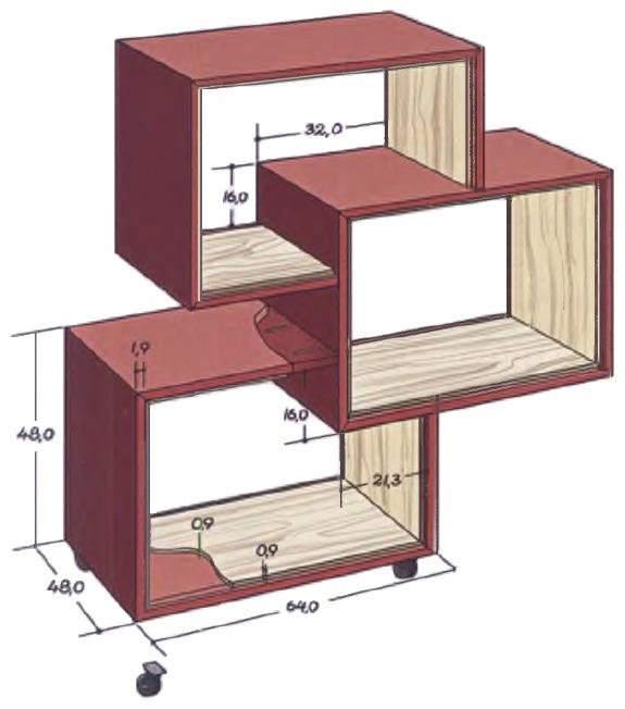Эскизная модель стеллажа