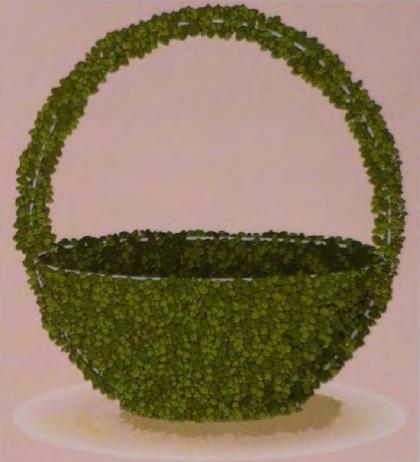 Фигурная стрижка растений - стационарный шаблон корзина