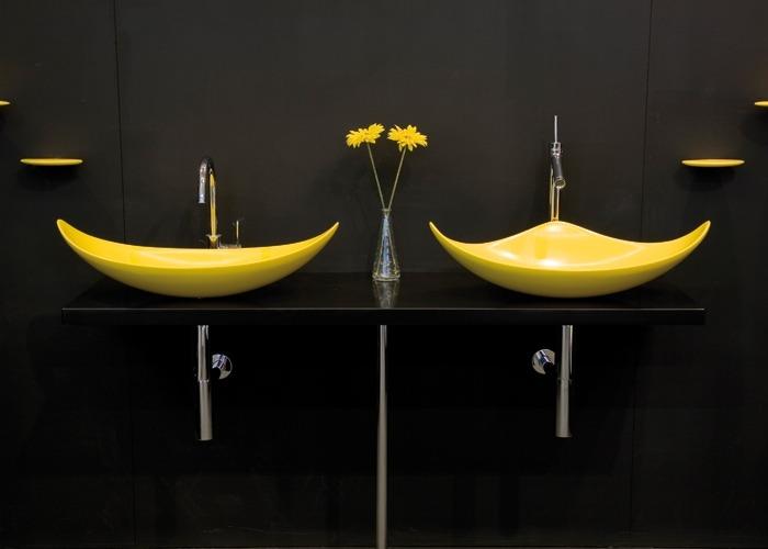 LG HI-MACS чаши умывальников в ванной комнате