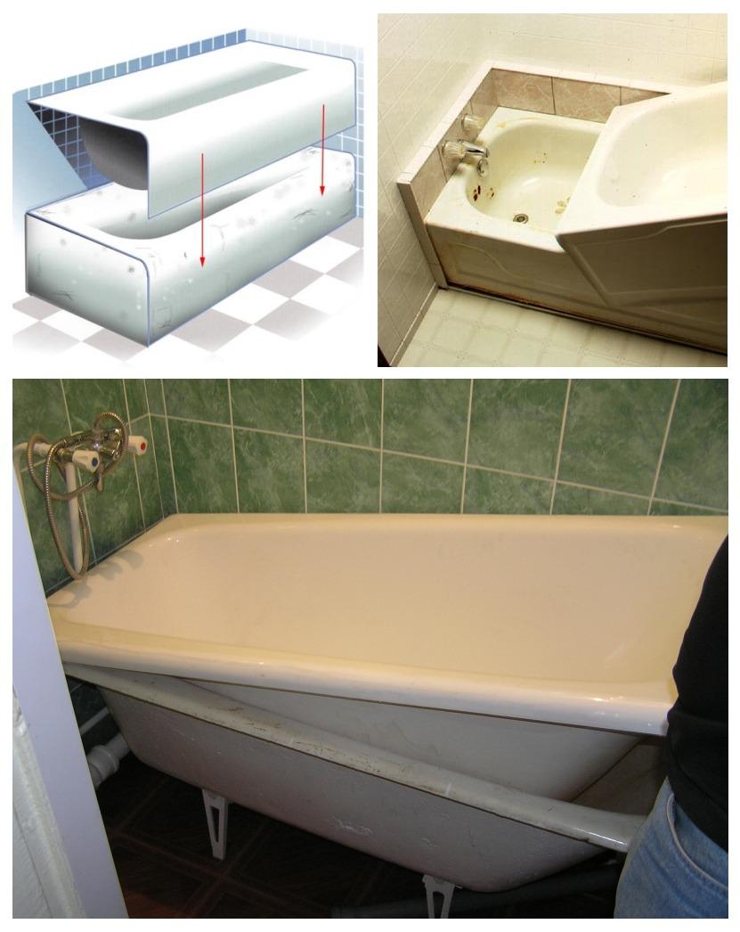 Акриловый вкладыш - вставка для ванны