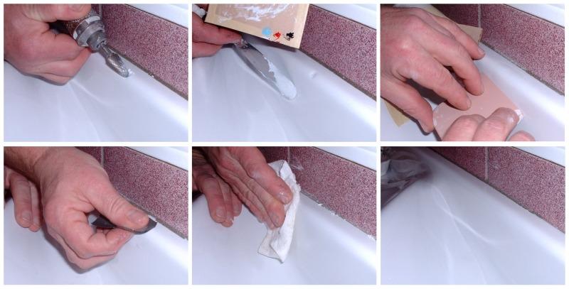 Ремонт скола эмали стальной ванны в воронеже - 35dff
