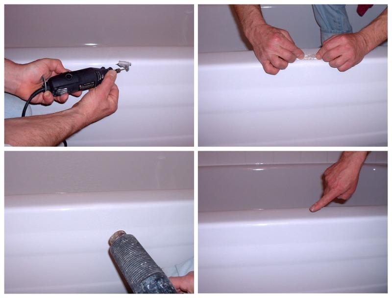 Этапы восстановления эмали ванны