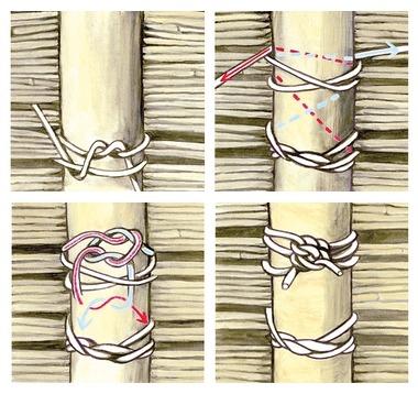 Правильно связываем бамбук при строительстве забора