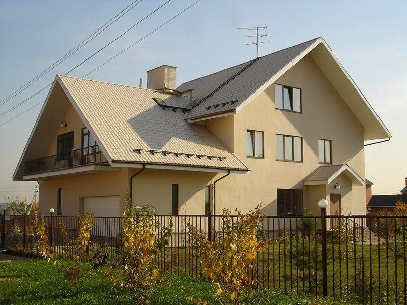 Дом построен с применением несъемной пенополистирольной опалубки