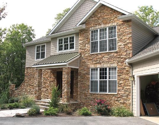 Каменный дом. Облицовка - натуральный камень - песчаник