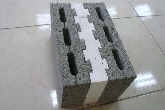 Керамзитобетонный блок с прослойкой пенополистирола
