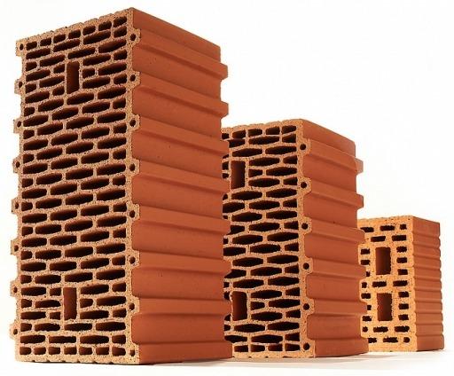 Крупноформатные керамические блоки (камни) из поризованной керамики