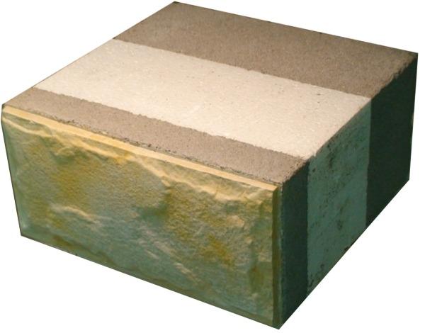 Теплоблок - утепленный многослойный блок с лицевой отделкой