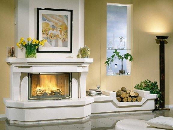 фото камины в частном доме