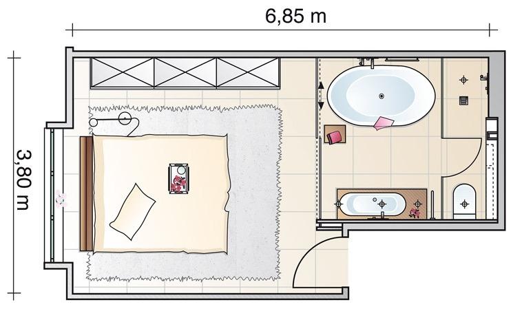 Планировку ванной комнаты не