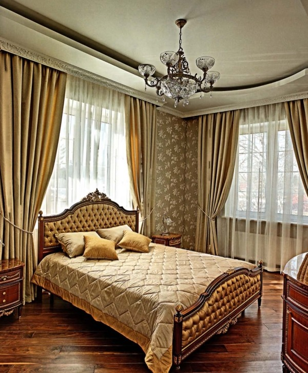 Стиль и архитектура современного загородного дома - спальня