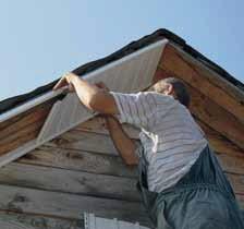 Подшивка карнизного свеса крыши софитами