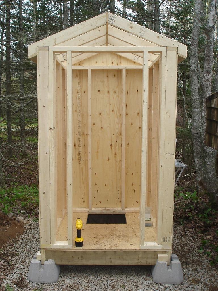 Туалет для дачи из дерева своими руками фото 20