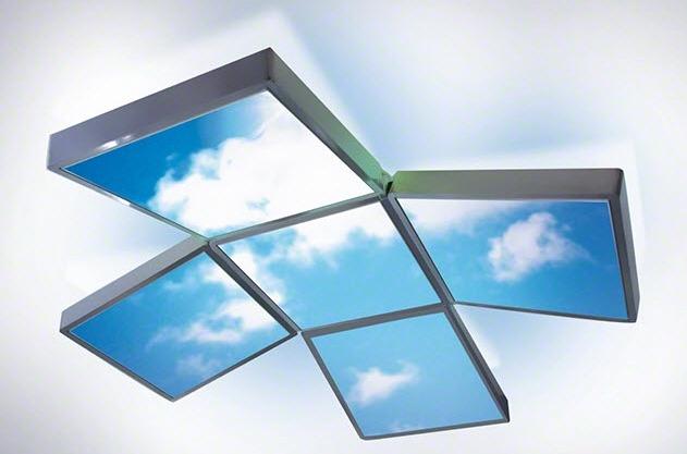 Модульные самонесущие подвесные рамы, в которые монтируется пленка Barrisol, могут быть любых размеров и форм: квадраты, прямоугольники, овалы и волнистые поверхности.