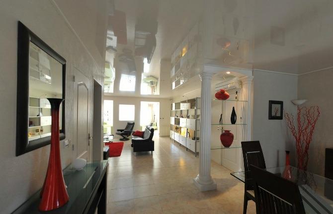 Натяжной потолок Barrisol в гостиной