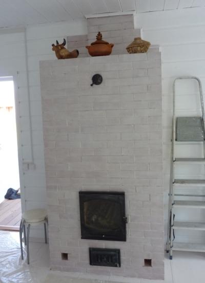 Печь камин в гостиной