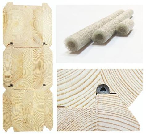 Клееный брус - уплотнение по бокам