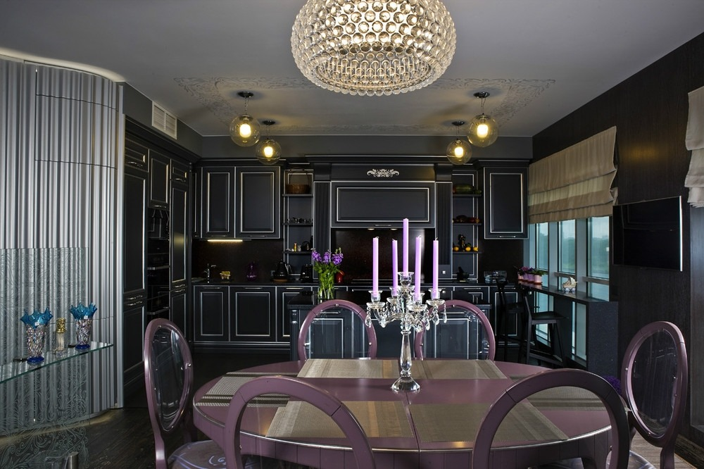 Дизайн интерьера кухни в стиле фьюжн