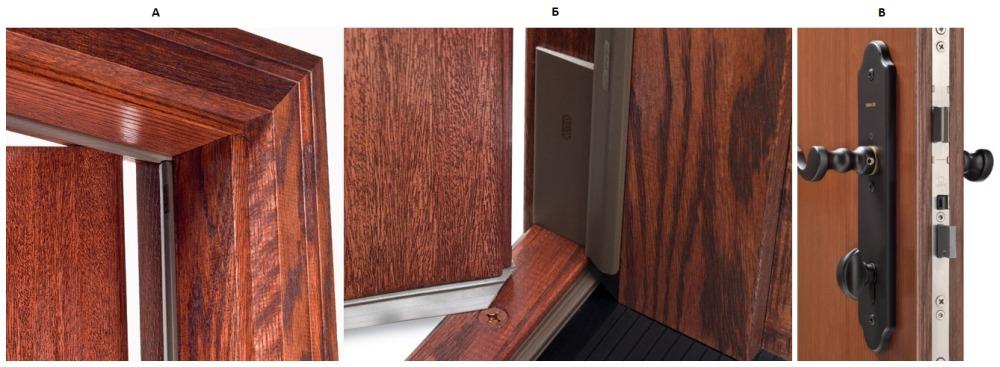 Конструкция современной деревянной входной двери
