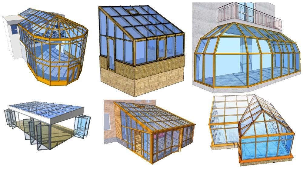 Модели зимних садов