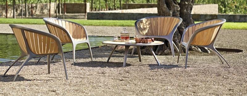 Набор садовой мебели от Gloster, серия Bella, алюминиевый каркас