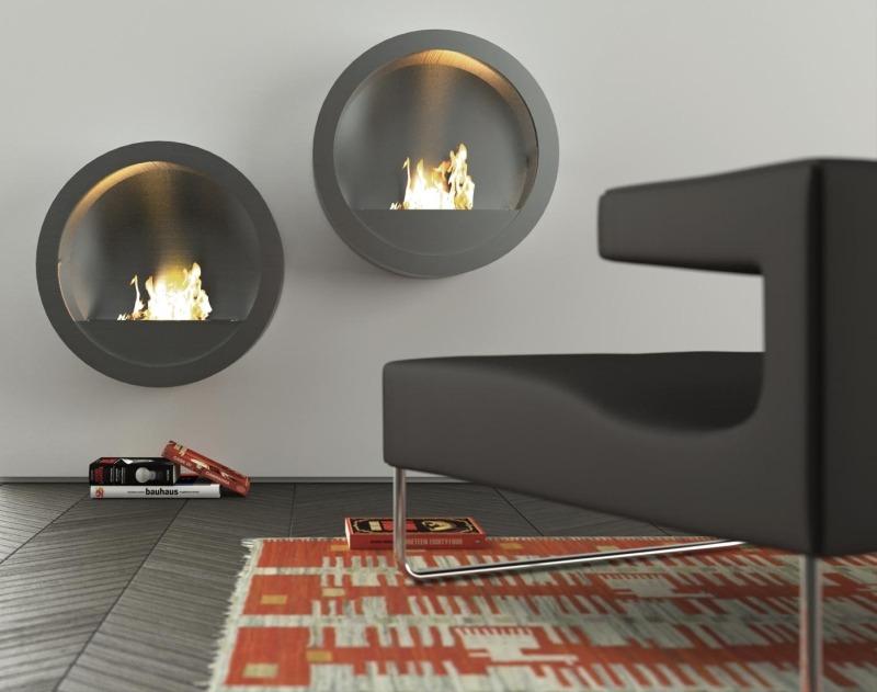 Настенные подвесные биокамины Camino на биоэтаноле, Моmа Design