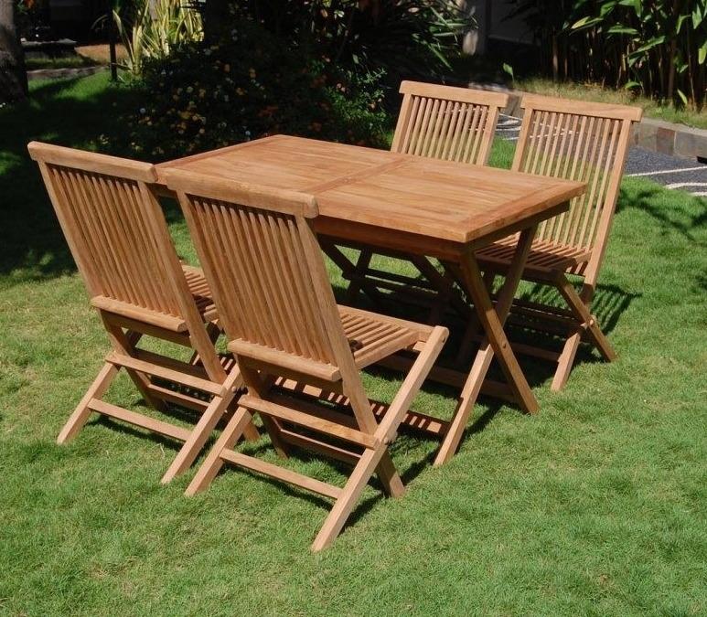 Складная деревянная садовая мебель
