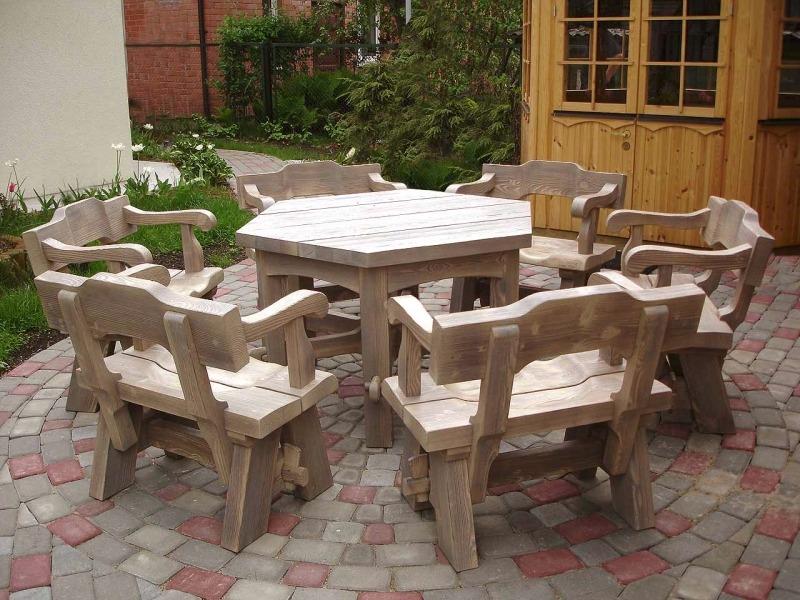 Деревянная садовая мебель