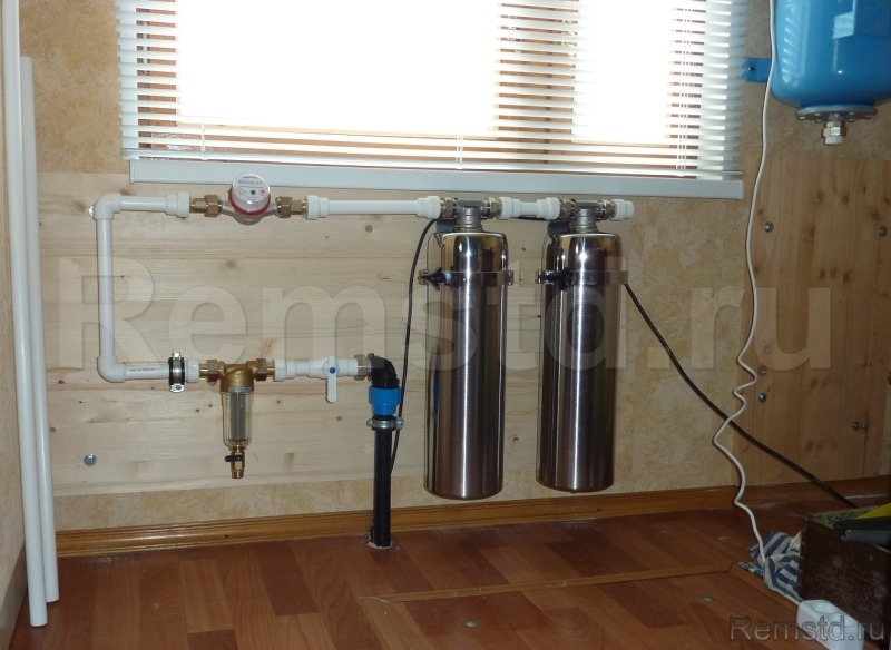 Монтаж системы водоподготовки