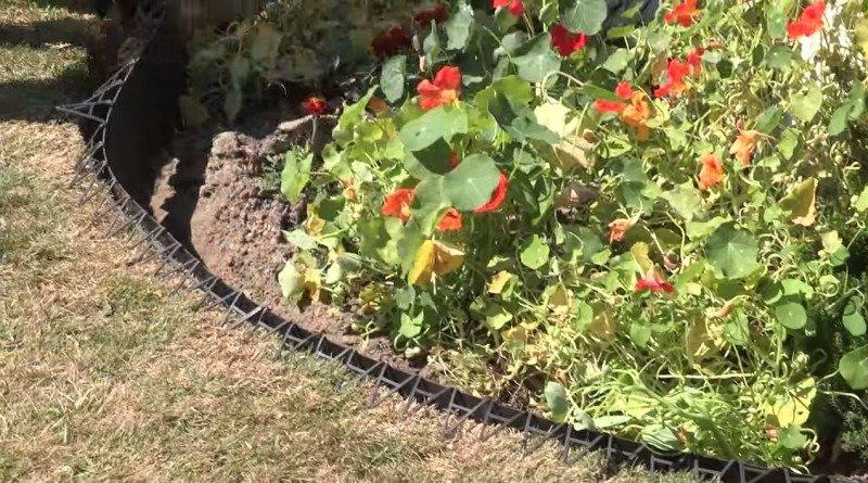 Пластиковый садовый бордюр для кромки газона