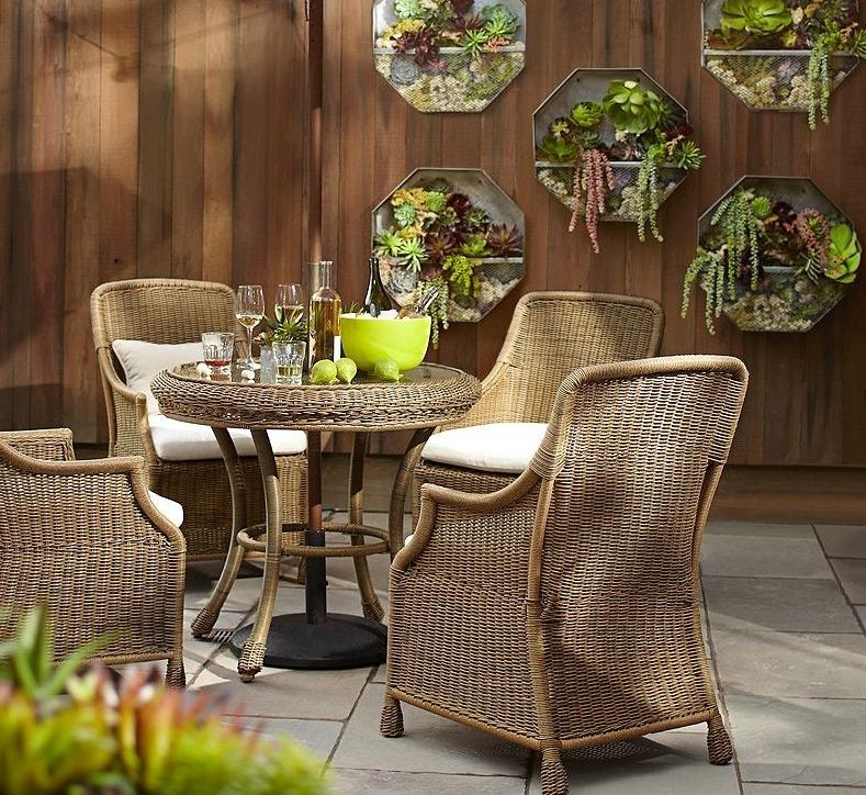 Комплект плетеной садовой мебели, пластиковый шнур, Pottery Barn