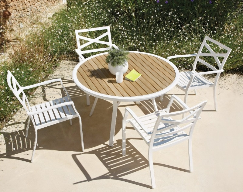 Комплект садовой мебели, алюминиевый каркас, Gloster, Roma
