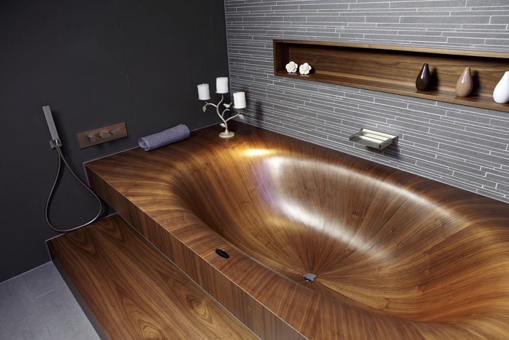 Деревянная ванна Laguna от компании aLEGNA