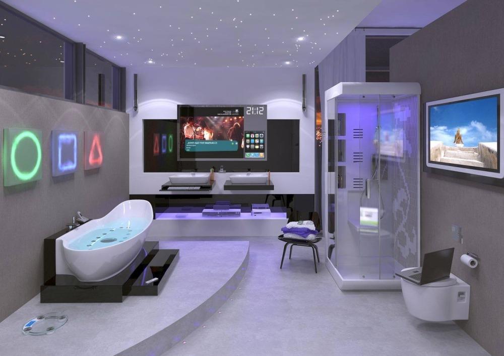 Интерьер ванной комнаты будущего