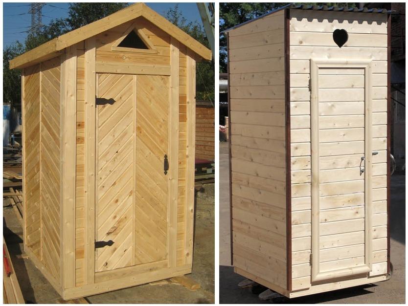 Готовые конструкции деревянных туалетных домиков