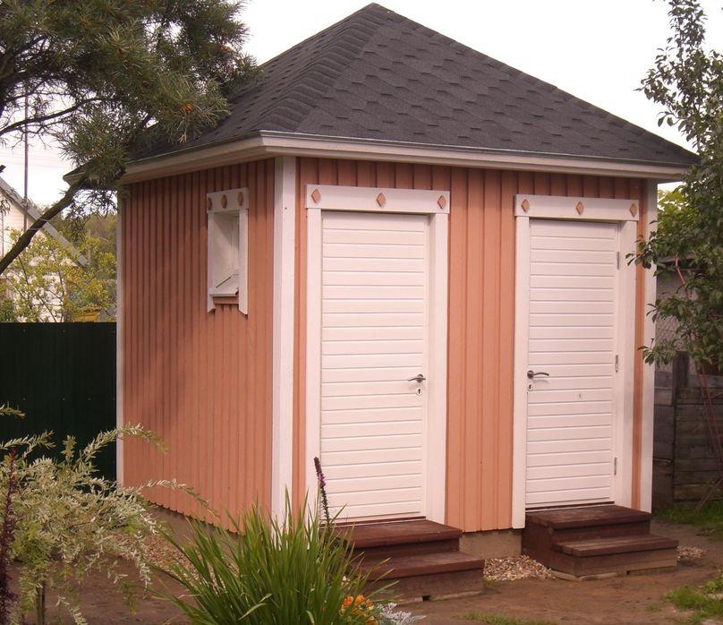 Как построить душ с туалетом на даче своими руками