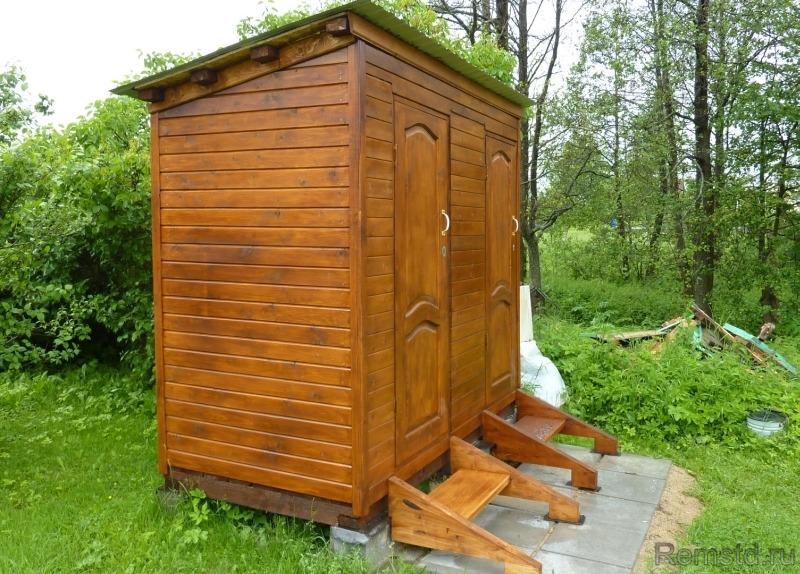 Строим дачный туалет с хозблоком