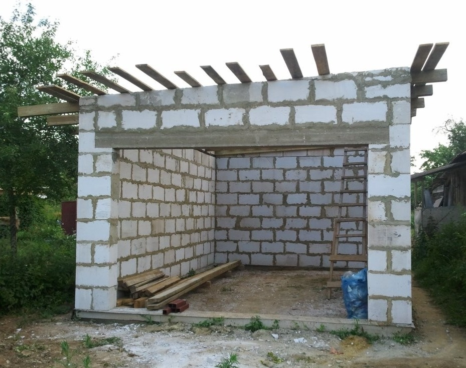 Гараж из блоков своими руками проекты