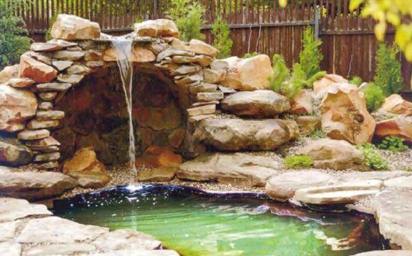 Строительство водоемов и водопадов на даче